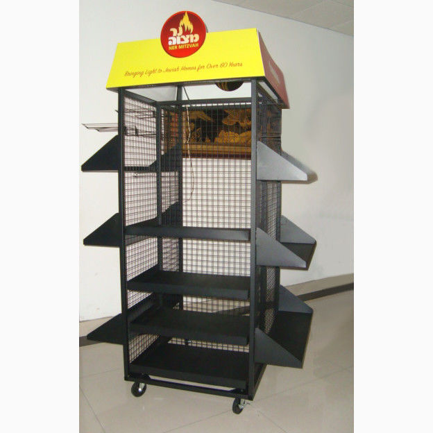 Floor Standing 4 Sides Gridwall Branded Display Stands