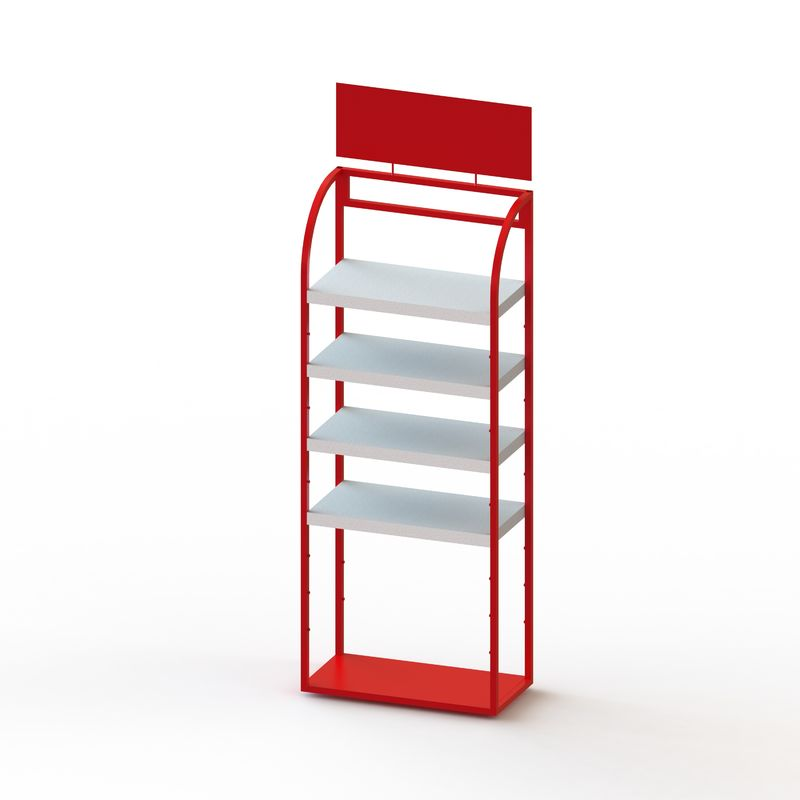 4 Tier Adjustable Iron Shelving , Metal Adjustable Storage Rack Shelf
